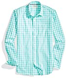 Goodthreads Men's Slim-Fit Long-Sleeve Large-Scale Gingham Shirt, Green/white, Small