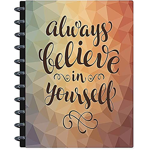 (2019 Disc Planner Discbound Notebook - Customizable - Compatible with 11 Discbound Hole Punch - Tools4Wisdom Inspirational Quote)