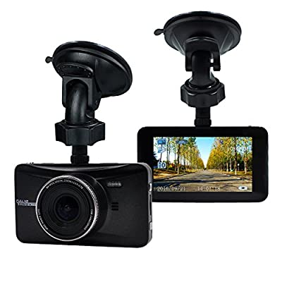 SpyGear-OldShark Full HD 1080P Dash Cam 170 Degree Wide Angle 3 Inch Dashboard Camcorder Vehicle Camera Support G-Sensor, Night Vision, WDR, Parking Guard, Loop Recording 32GB SD Card Included - Old Shark