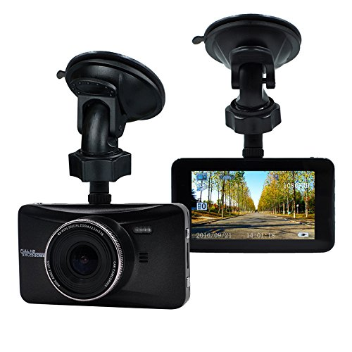 OldShark Full HD 1080P Dash Cam 170 Degree Wide Angle 3 Inch Dashboard Camcorder Vehicle Camera Support G-Sensor, Night Vision, WDR, Parking Guard, Loop Recording 32GB SD Card Included