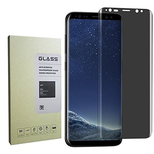 Blaulock fghfghfg Anti-Spy, Case-Friendly Privacy Anti-Peep Tempered Glass Screen Protector Shield for Samsung Galaxy S8 Plus - Black