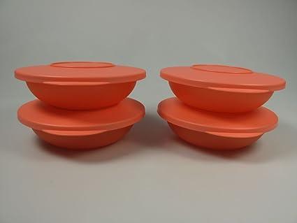 Tupperware Junge Welle – Servir Pequeña (4 bandejas) 400 ml pastellorange 10071