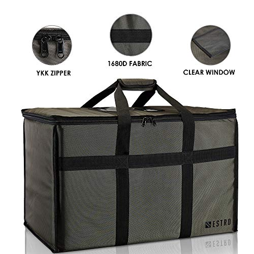 Bestro Premium Insulated Food Delivery Bag Hot & Cold Travel Storage | Commercial Large Warming Tote | Delivery Drivers, Restaurants, Caterers | Fits Full-Size Chafing Steam Trays from Bestro