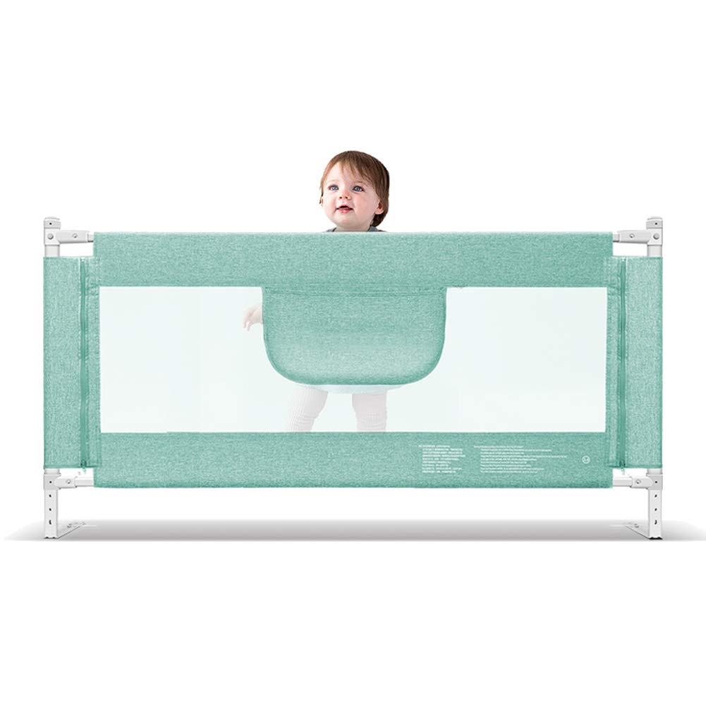 余分な背の高い安全ベビーベッドレールベッドガードチャイルド幼児ベッドガード折りたたみメッシュレール、大150-220cm、緑、高さ90cm (サイズ さいず : 200cm) 200cm  B07L6CYKG9