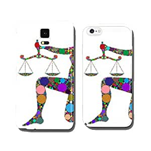 scales, zodiac sign composed of colors cell phone cover case iPhone5