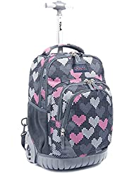 Tilami Rolling Backpack Armor Luggage School Travel Book Laptop 18 Inch Multifunction Wheeled Backpack for Kids...