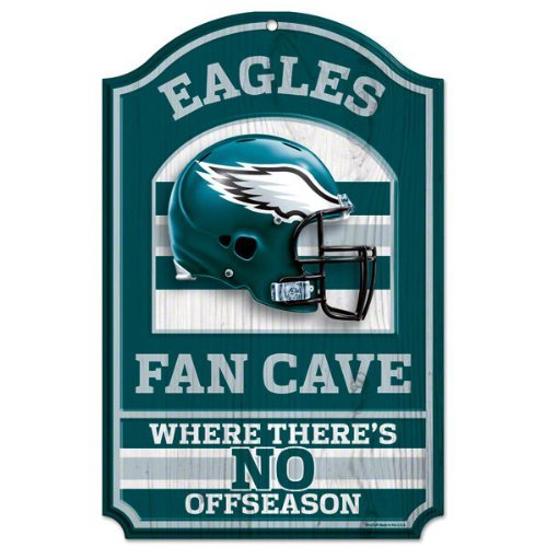 NFL Philadelphia Eagles Fan Cave Wood Sign, 11