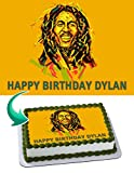 Bob Marley Edible Cake Image Personalized Icing Sugar Paper A4 Sheet Edible Frosting Photo Cake 1/4 ~ Best Quality Edible Image for cake
