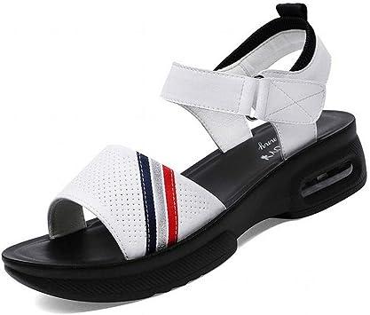 LTN Ltd sandals Velcro Sandales en Cuir Femmes D'Été