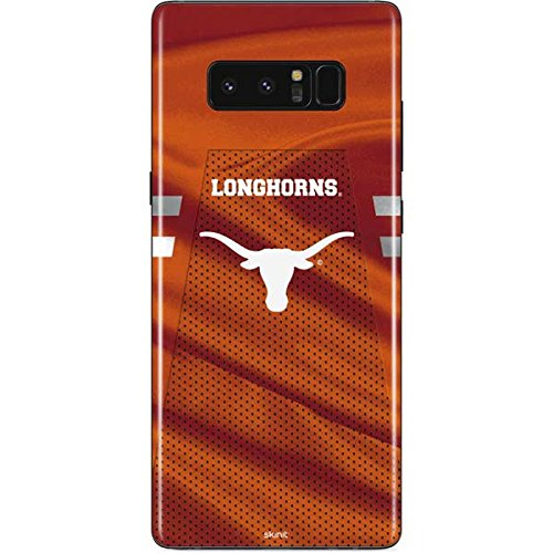 Skinit Texas Longhorns Jersey Galaxy Note 8 Skin - Officially Licensed University of Texas at Austin Phone Decal - Ultra Thin, Lightweight Vinyl Decal Protection ()