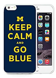 Ncaa Big Ten Conference Football Michigan Wolverines 17 White Hottest Sell Customized iPhone 6plus 5.5 Inch TPU Case