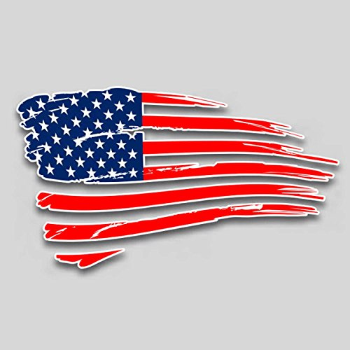 Large American flag vinyl decal for truck car suv window glass 10