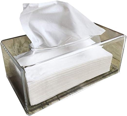 Klerokoh Caja de pañuelos de acrílico Transparente Caja Creativa ...