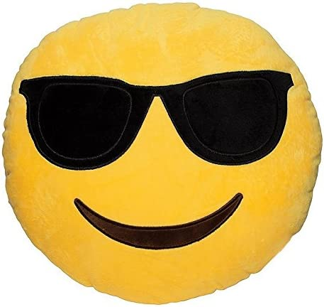 Emoji Plush Backpack Embroidery Stitched Yellow Cushioned Plush Bag Best For Gifting Kids Adults Teen Use For Traveling School Picnic Outing (Dude Emoji Bag)