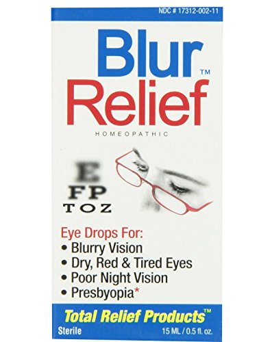 TRP Blur Relief Homeopathic Sterile Eye Drops, 0.5 Fluid Ounces each (Value Pack of 4) Blur Relief Eye Drops