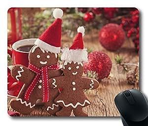 Design Mouse Pad Desktop Laptop Mousepads Christmas Gingerbread 3 Comfortable Office Mouse Pad Mat Cute Gaming Mouse Pad