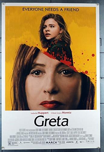 Greta (2018) Original U.S. One-Sheet Movie Poster 27x40 ISABELLE HUPERT CHLOE GRACE MORETZ Film directed by NEIL JORDAN