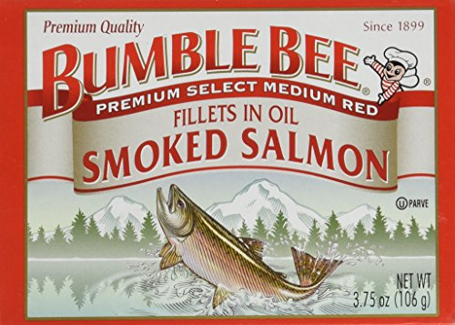 Bumble Bee Smoked Salmon Fillets in Oil 3.75oz can (Pack of 6) (Smoked Salmon Canned compare prices)