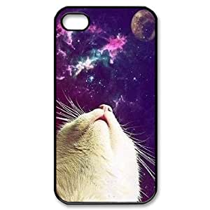 Galaxy Hipster Cat Custom Cover Case for Iphone 4,4S,diy phone case ygtg551196