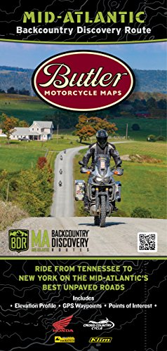 Butler Maps Mid-Atlantic Backcountry Discovery Routes Map MABDR ()