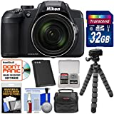 Nikon Coolpix B700 Digital Camera with 32GB Card + Case + Battery + Tripod Kit (Certified Refurbished)