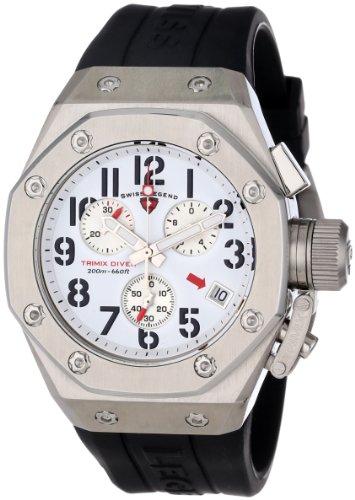 - Swiss Legend Men's 10541-02 Trimix Diver Collection Chronograph Black Rubber Watch