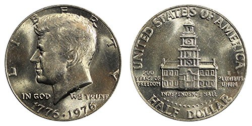 (1776 - 1976 BU Bicentennial Kennedy Half (1/2) Brilliant Uncirculated US)