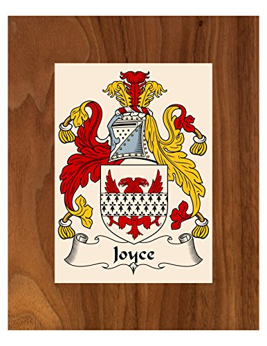 Family Surname Coat Of Arms (Carpe Diem Designs Joyce Coat of Arms/Joyce Family Crest 8X10 Photo Plaque, Personalized Gift, Wedding Gift)