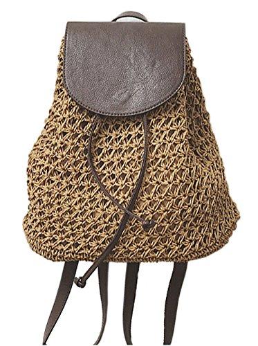 Bag Woman Trends Brown Crossbody Straw Bag Ladies straw Womens Bag Fashion Bag 1 Hopeeye 46wIxw