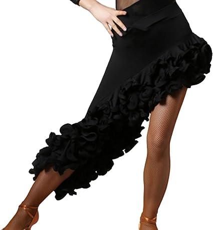 Qlan Latin Dance Dress Fringe Skirt Tassel Skirt Latin Dance Skirt Cha Cha Ballroom Skirt