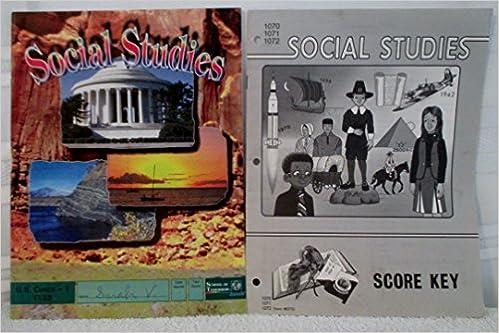 school of tomorrow 2 book set social studies u s civics 1 1133