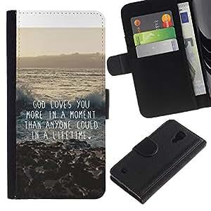 iBinBang / Flip Funda de Cuero Case Cover - Cita de la inspiración - Samsung Galaxy S4 IV I9500