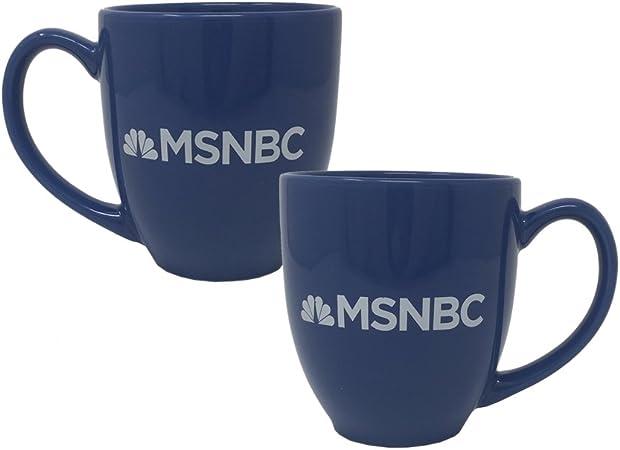 Official Msnbc Logo 14 5 Oz Ceramic Blue Mug Humanieferink