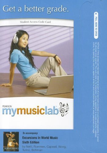 MyMusicLab -- Standalone Access Card -- for Excursions in World Music (MyMusicLab (Access Codes))