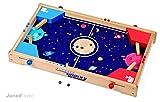 Janod J02068 Flipper Galaxy - Juego tipo pinball para realizar batallas intergalácticas (madera)