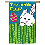 Time To Hide Eggs Easter Bunny Applique House Flag Review