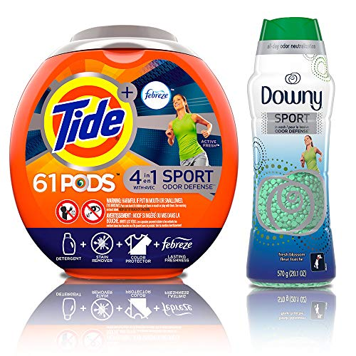 Tide PODS Plus Febreze Sport Odor Defense 4 in 1 HE Turbo Laundry Detergent Pacs with Odor Defense Beads in Wash Scent Beads