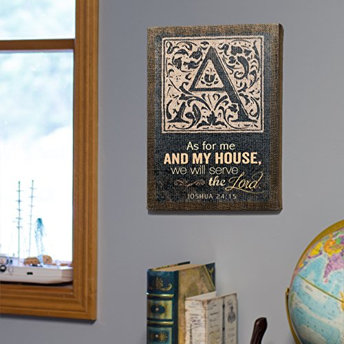 As For Me And My House, We Will Serve The Lord. Joshua 24:15 Gallery Wrapped Burlap 16 X 12