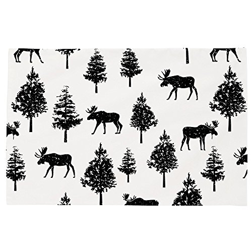 Moose Black Onyx - Carousel Designs Onyx Moose Toddler Bed Pillow Case