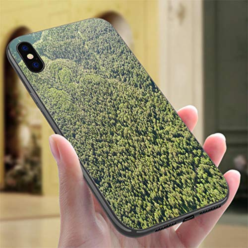 View Photo Birdseye Real - Creative iPhone Case for iPhone Xs MAX Photos from The Birds Eye View Road in a Mountain Forest Resistance to Falling, Non-Slip,Soft,Convenient Protective Case