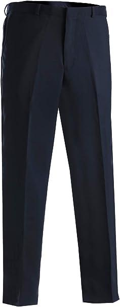 Ed Garments Mens Business Casual Flat Front Brass Zipper Pant