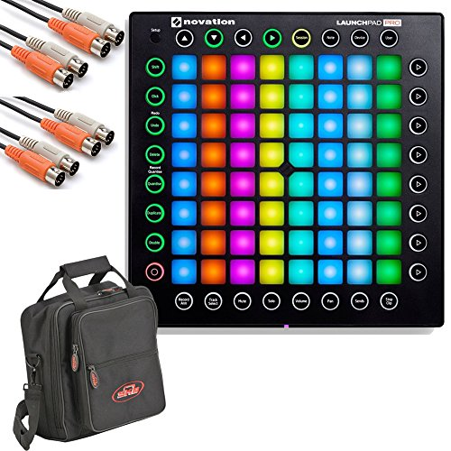Novation Launchpad Pro USB MIDI Controller with Cables and Carry Bag by Novation