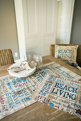 "Heritage Lace Beach Living Pillow, 18""x18"" - Measures 18""x18"" Perfect nautical charm Great accent piece to any furniture - living-room-soft-furnishings, living-room, decorative-pillows - 51OWNYhjxKL -"