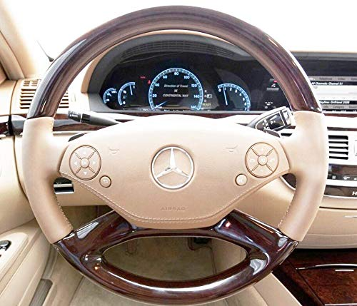 Cashmere Beige/TAN Mercedes S Class Matte Steering Wheel Button Repair Decals