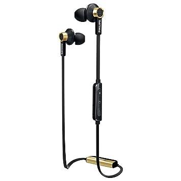 Philips TX2BTBK - Auriculares in-Ear con Bluetooth (con micrófono, Control Remoto Integrado, NFC), Color Negro y Dorado: Amazon.es: Electrónica