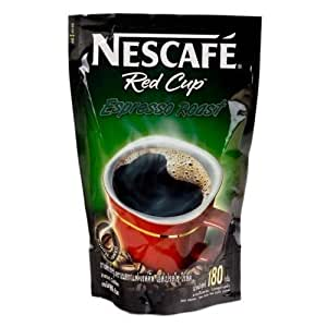 5x Nescafe RED CUP Instant Coffee Powder Espresso Roast ...