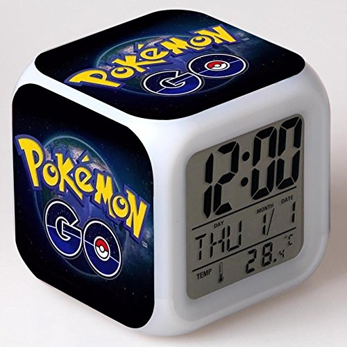 Enjoy Life : Cute Digital Multifunctional Alarm Clock With Glowing Led Lights and Pokemon Go sticker, Good Gift For Your Kids, Comes With Bonuses (02) by EnjoyLife Inc