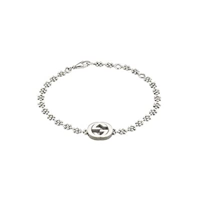 23ea1cfb1ac Amazon.com  Gucci Women s Interlocking G Bracelet Silver One Size  Jewelry