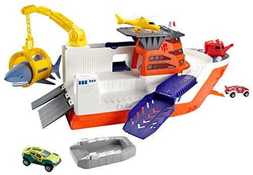 Shark Toys For Boys With Boats : Matchbox mission marine rescue shark ship discontinued