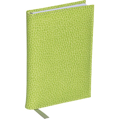 Budd Leather Pebble - Budd Leather Pebble Grain Leather Small Bound Address Book (Lime Green)